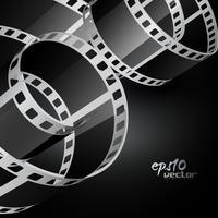 realistische vector reel film