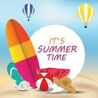 zomer beach party folder sjabloon vector