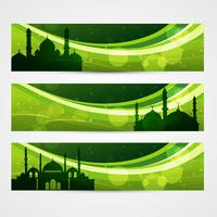 mooie ramadan headers vector