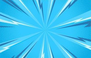 blauwe komische halftone achtergrond vector