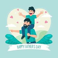 gelukkige vaderdag groet vector