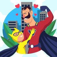 superheld vaderdag vector