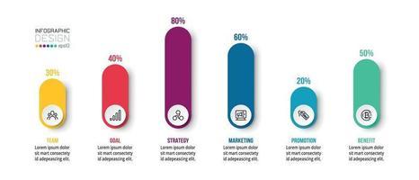 grafiekweergave zakelijke of marketing infographic sjabloon.