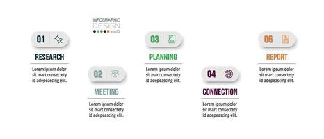 infographic bedrijfssjabloon met stap of optieontwerp.