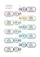 zakelijke werkstroom infographic sjabloon.