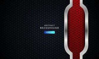rode abstracte donkere vector als achtergrond, modern bedrijfsconcept met zilveren effect