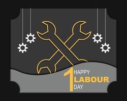 gelukkige dag van de arbeid groet sjabloon vector