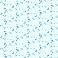 naadloze patroon met vliegtuigen en camera's. vector