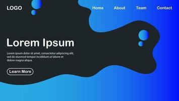 moderne achtergrond met vloeiende vormen en blauwe kleurverloop