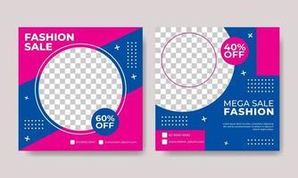 flyer of sociale media post sjabloon illustratie voor mode-thema