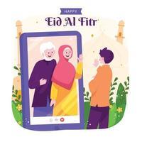 eid al fitr viering concept vector
