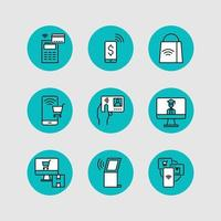 icoonontwerpen van contactloze beweging voor nieuw normaal
