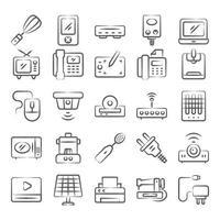 huishoudelijke apparaten en apparaten vector