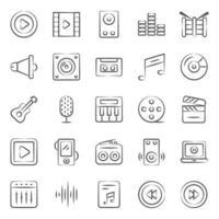 muziek- en multimedia-instrumenten vector
