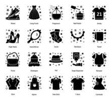 stoffen accessoires en kledingstukken vector