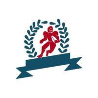 Amerikaans voetbal sport logo sjabloon ontwerp embleem