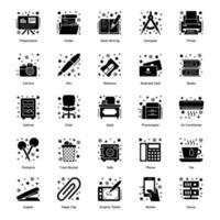 briefpapier en kantoorbenodigdheden vector