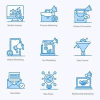 moderne marketing en promotie vector