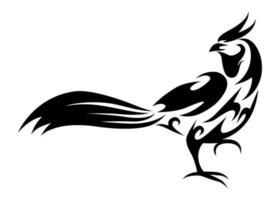 lijn kunst vectorillustratie van fazant die loopt. vector