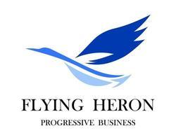 de abstracte vectorafbeelding van een vliegende reiger is geschikt voor het maken van logo's of decoraties.