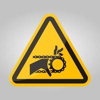 handverstrengeling kettingaandrijving symbool teken, vector illustratie, isoleren op witte achtergrond label .eps10