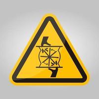 snijden van vingers roterende mes symbool teken, vector illustratie, isoleren op witte achtergrond label .eps10
