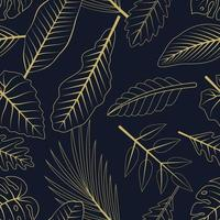 naadloze patroon met tropische bladeren. elegante exotische achtergrond.