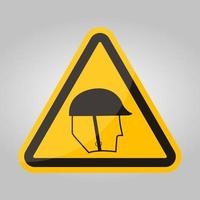 symbool slijtage hoofdbescherming teken isoleren op witte achtergrond, vector illustratie eps.10
