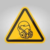 symbool slijtage gasmasker teken isoleren op witte achtergrond, vector illustratie eps.10