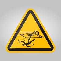 val gevaar symbool teken isoleren op witte achtergrond, vector illustratie