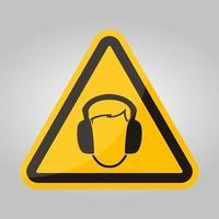symbool dragen oorbeschermer teken isoleren op witte achtergrond, vector illustratie eps.10