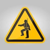 PPE-pictogram. veiligheidsharnas moet worden gedragen symbolen ondertekenen isoleren op witte achtergrond, vector illustratie eps.10