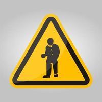 PPE-pictogram. slijtage beschermende kleding symbool teken isoleren op witte achtergrond, vector illustratie eps.10