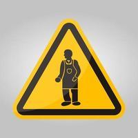 ppe-pictogram. draag beschermende kleding symbool isoleren op witte achtergrond, vector illustratie eps.10