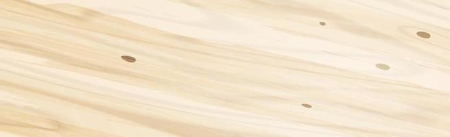 panoramische textuur van licht hout met knopen - vector