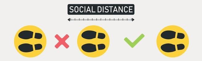 nieuwe wereldtrend sociale afstand, pandemische gevolgen - vector