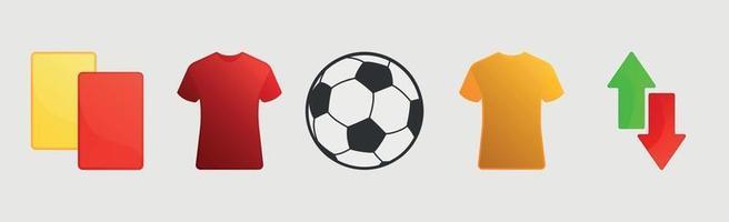 voetbal parafernalia op een witte achtergrond - vector