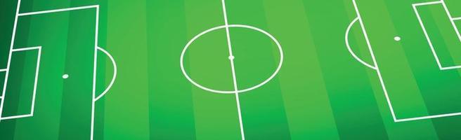 klassiek voetbalveld met tweekleurige groene coating vector
