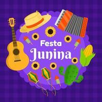 happy festa junina achtergrond vector