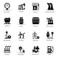 landbouw en ecologie-elementen vector