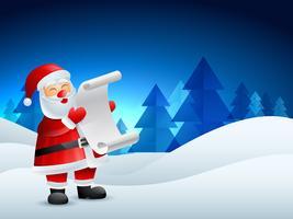 illustratie van de kerstman vector