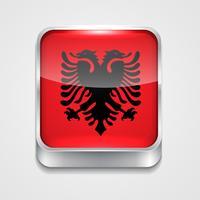 vlag van Albanië vector