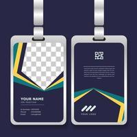 sjabloon voor professionele identiteitskaart met mockup