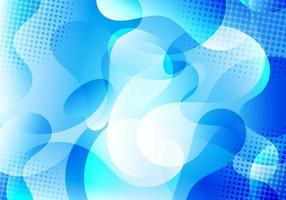 abstracte achtergrond blauwe vloeibare gradiëntvormen transparantie gelaagd met halftooneffect. vector