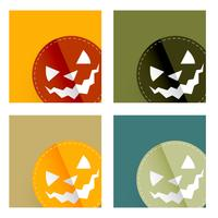 Halloween-kaartontwerp vector