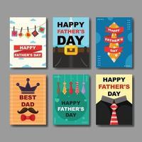 gelukkige vaderdag kaart vector