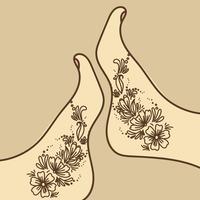 Voeten met Henna Art vector