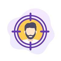 doelgroep, platte vector pictogram