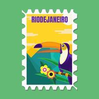 Briefkaart 1 van Brazilië vector