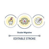 oculaire migraine concept pictogram